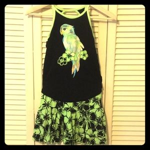2 Pc Parrot Tank and Skirt
